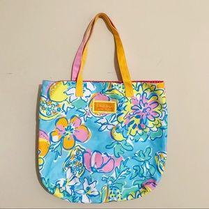 Lilly Pulitzer x Estée Lauder Lemon Print Tote Bag